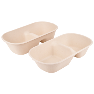 Two Partition - Bamboo Food Box incl lids