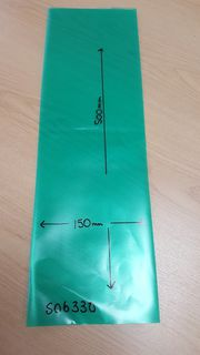 Sprayguard 150X500-150 GREEN NON.SLIT