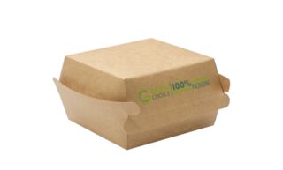 Hamburger Box KRAFT PLA - Small Carton  500    - Green Choice