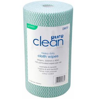 Wavy Roll Wipes 100 sheets GREEN - PureClean