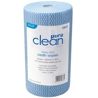 Wavy Roll Wipes 100 sheets BLUE - PureClean