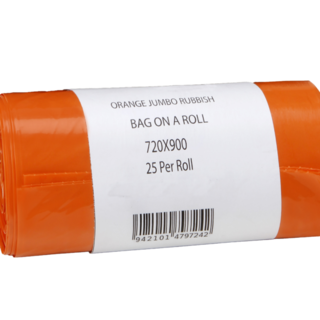 70L Orange Bin LIner on Roll - Premier Hygiene