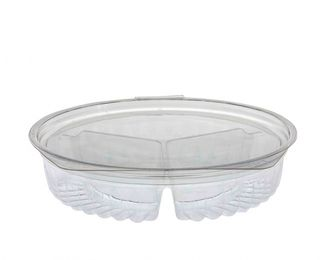 Sho-Bowl 15oz 3-Compartment Flat Lid - UniPak
