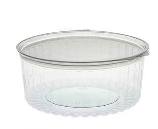 Sho-Bowl 1270ml-48oz Flat Lid - UniPak