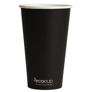 Hot Cup PLA Single Wall 16oz Black- Ecoware