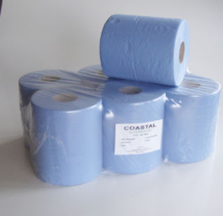 Centrefeed Paper Towels 2 ply blue - Coastal