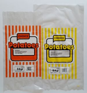 Plastic Printed Veggie Bag - Potato 250x500mm - Fortune