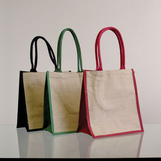 Natural Supermarket Shopper Bag (Red Gusset) - Ecobags
