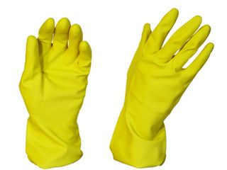 Yellow Rubber Gloves Silverline - Pomona