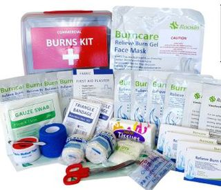 Large Industrial Burn's First Aid Kit LUNCH BOX