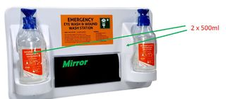Emergency Eye and Wound Wash Station (1 x 500ml)