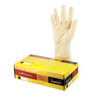 Bastion Latex Powderfree Gloves Small - UniPak