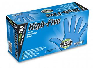 Nitrile Gloves Blue PowderFree - High Five