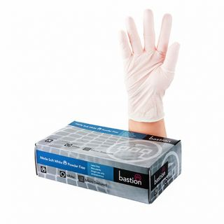 Bastion Nitrile Soft White PowderFree Gloves Large - UniPak