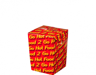 Small Chip Box - Hot Food 2 Go, Sleeved - Castaway