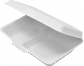 Enviroboard' Dinner Packs, 2 Compartment, Large White - Castaway