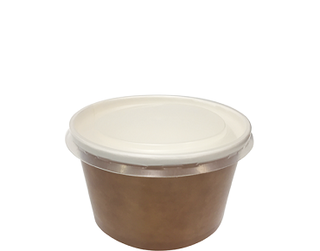 Multi-Food Pot & PP Lid Combo-Pak', 470 ml Brown kraft / Natural Lid