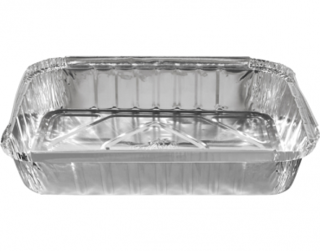 Large Rectangular Catering Containers, Deep 2500 ml