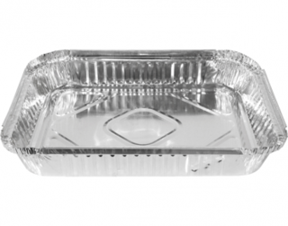 Extra Large Rectangular Catering Containers, Shallow 2500 ml