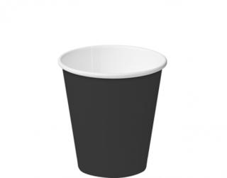 8oz Black Single Wall Paper Hot Cup - Castaway
