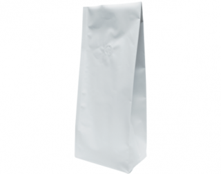 1kg Side Gusset Coffee Bag, Matte White - Castaway
