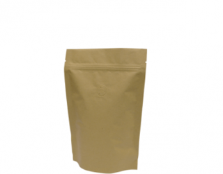 250g Stand-Up Coffee Pouch, Rip-Top & Resealable Zipper, Brown Kraft - Castaway