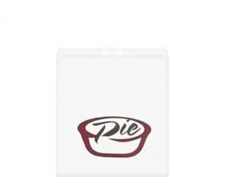 Greaseproof Bag, Printed 'Pie', White - Castaway