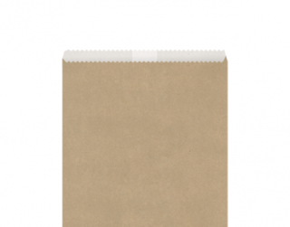 Greaseproof Lined Paper Bags #6 Flat, Brown - Castaway