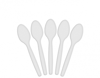 Costwise' Plastic Dessert Spoon, White 145 mm - Castaway