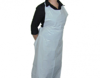 PrimeSource' Plastic Tear-Off Aprons - One Siz, White - Castaway