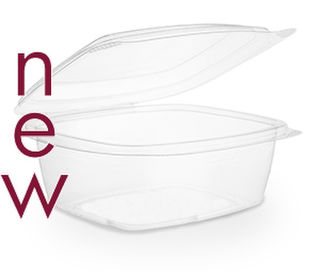 Clam Deli Bowl 800ml Brim - PLA - Vegware - Pack & Carton