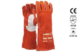 HOT SHOT' Premium Red welders glove, Kevlar stitched - Esko
