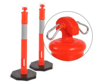 Rubber Based, Orange PVC Reflectorised Bollard - Esko