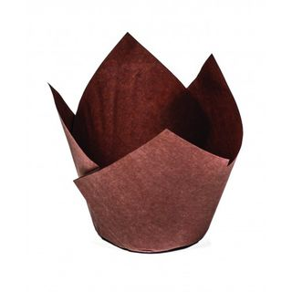 Medium Muffin Wrap - Brown (ctn 250) - Confoil