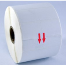 Direct Thermal label 60mmW x 25mmL Matt Removable Blank (1 label Across; 1000 labels/Roll)