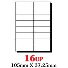 PRINZET A4  Label 105 x 37.25mm 16UP (Pack 100 sheets)