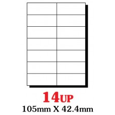 PRINZET A4  Label 105 x 42.4mm 14UP (Pack 100 sheets)