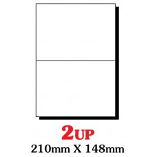 PRINZET A4  Label 210 x 148mm 2UP (Pack 100 sheets)