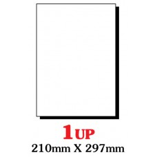 PRINZET A4  Label 210 x 297mm 1UP (Pack 100 sheets)