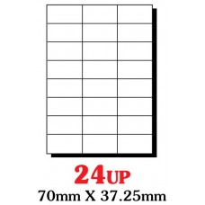 PRINZET A4  Label 70 x 37.25mm 24UP (Pack 100 sheets)
