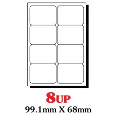 PRINZET A4  Label 99 x 68mm 8UP (Pack 100 sheets)