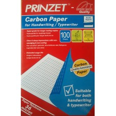 PRINZET Carbon Paper Blue Image 216mm x 330mm (100Sheets/Pack)