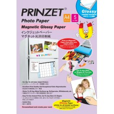 Inkjet Magnetic PRINZET A4  750gsm Magnetic Glossy Paper (5sheets/Pack)
