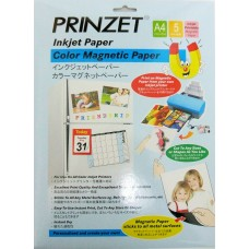 Inkjet Magnetic PRINZET A4  750gsm Magnetic Matt Paper (5sheets/Pack)