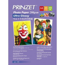 Inkjet Photo PRINZET A3  200gsm Ultra Glossy (20sheet/Pack)