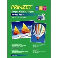 Inkjet Photo PRINZET A4  140gsm Photo Matte (20sheet/Pack)