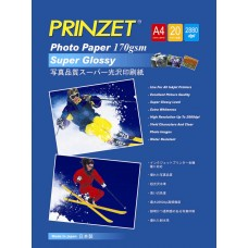 Inkjet Photo PRINZET A4  170gsm/180gsm Super Glossy (20sheet/Pack)