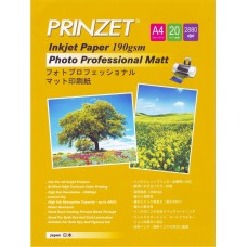 Inkjet Photo PRINZET A4  190gsm Professional Matte (20sheet/Pack)