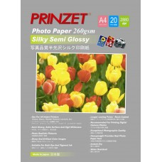 Inkjet Photo PRINZET A4  260gsm Silky Semi Glossy (20sheet/Pack)