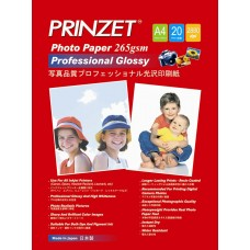 Inkjet Photo PRINZET A4  265gsm Professional Glossy (20sheet/Pack)